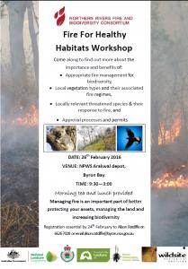 Fire for Healthy Habitats Workshop