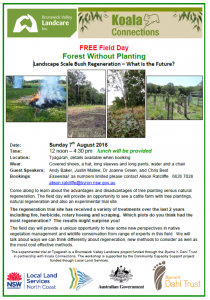 Forest without planting Field Day