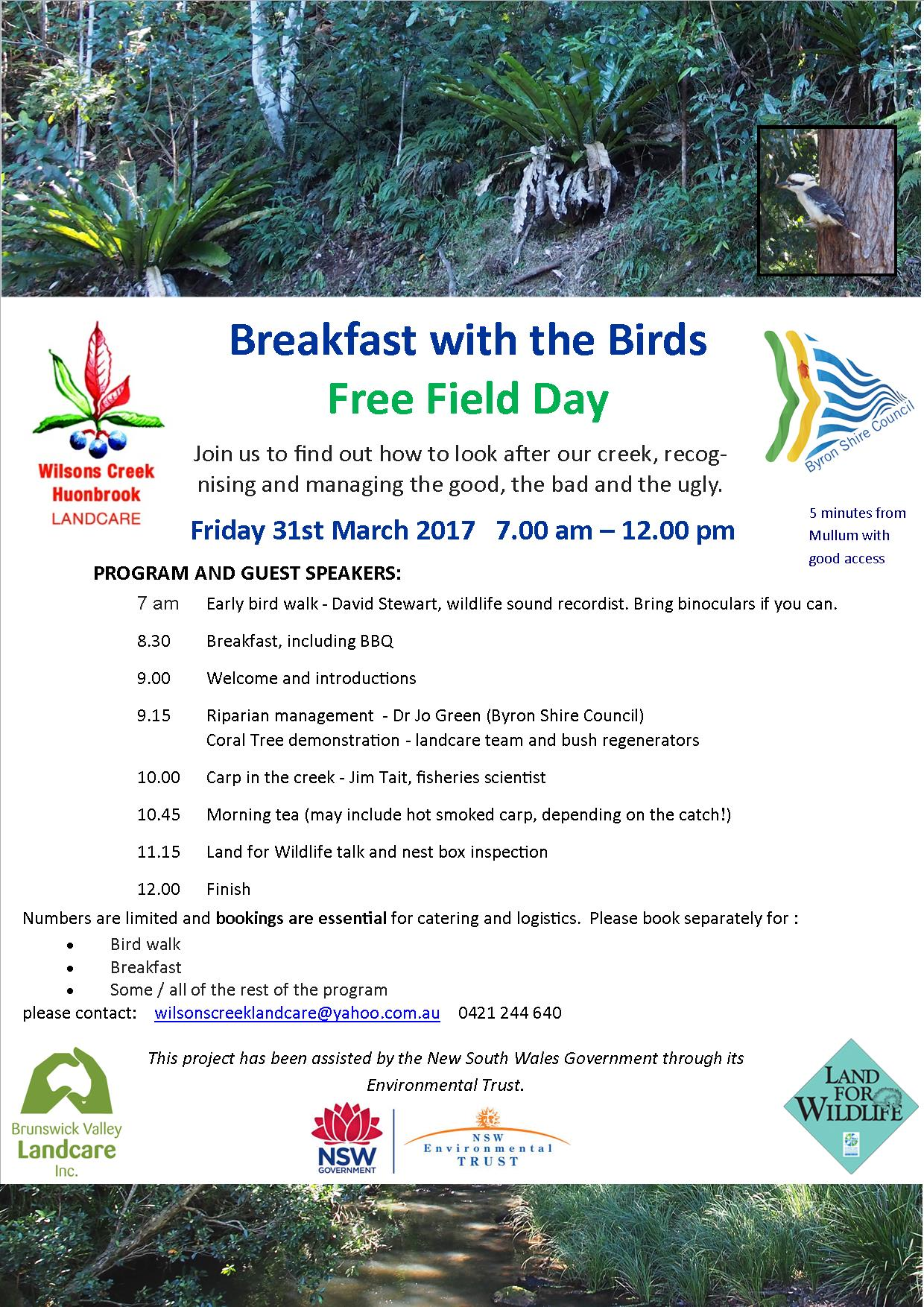 Breakfast with the Birds - email