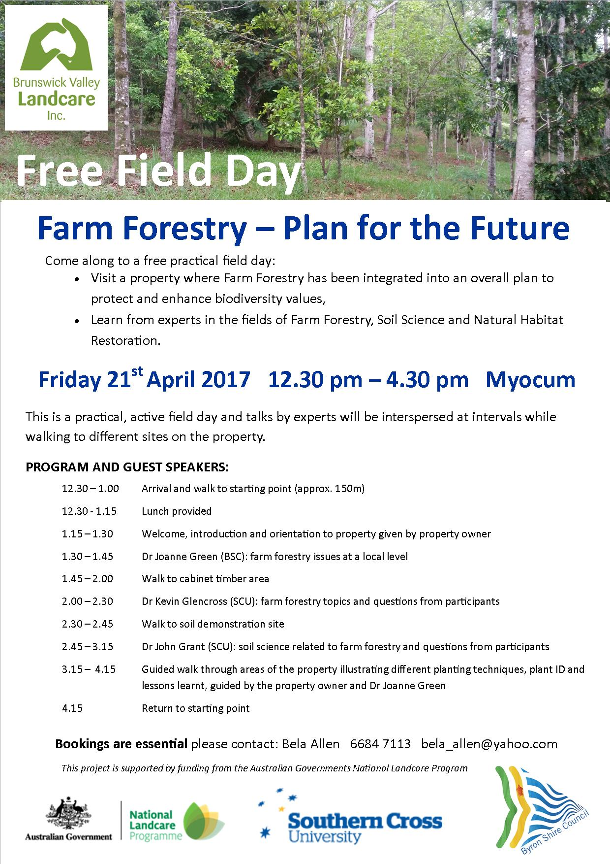 SAG Farm Forestry flyer - print