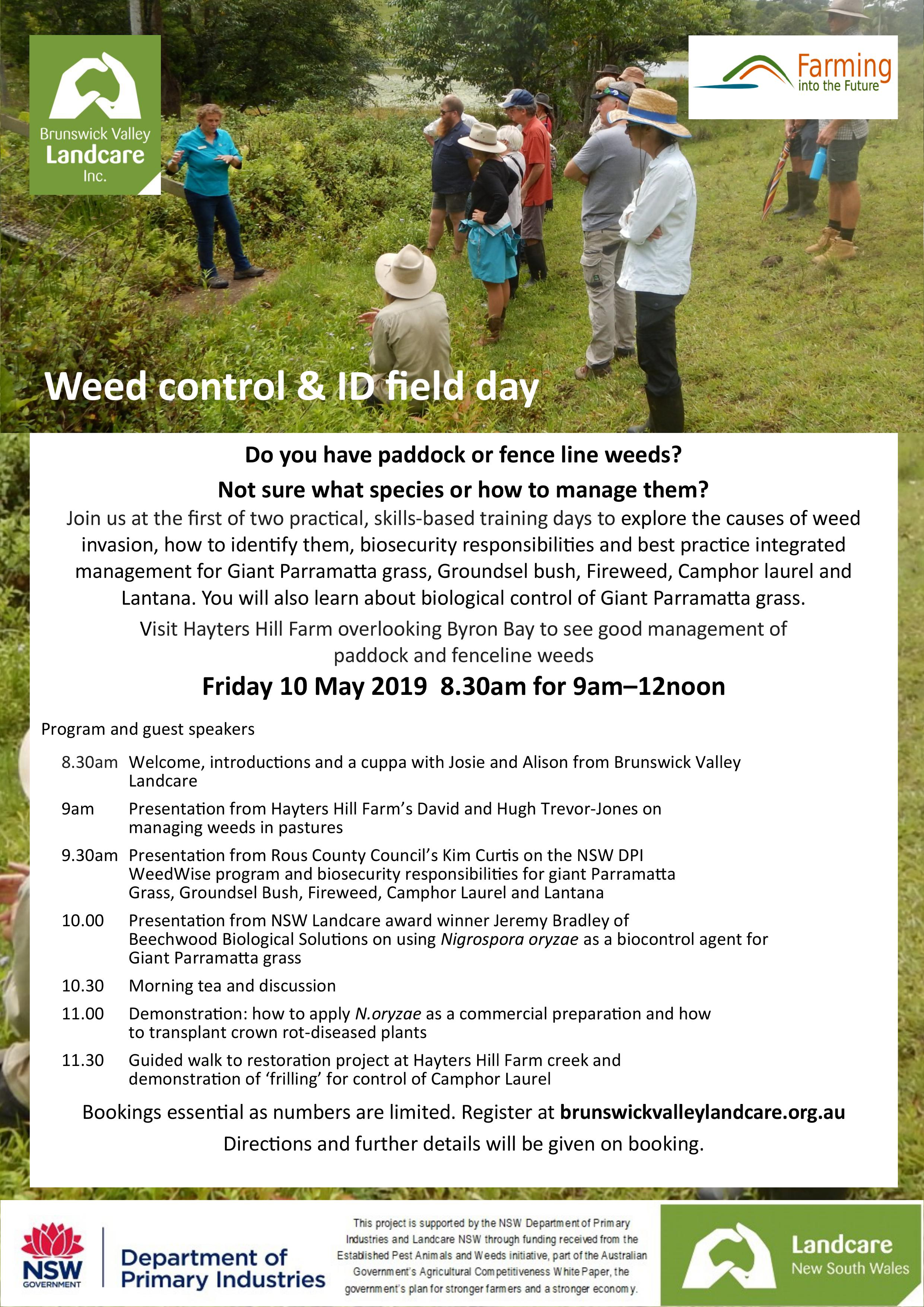 Weed control & ID field day flyer
